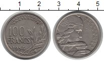 Изображение Монеты Европа Франция 100 франков 1954 Медно-никель XF