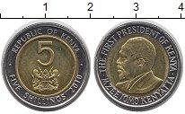 Изображение Монеты Кения 5 шиллингов 2010 Биметалл XF