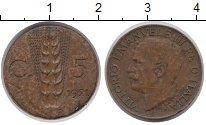 Изображение Монеты Европа Италия 5 сентесим 1921 Медь XF