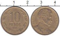 Изображение Монеты Южная Америка Чили 10 песо 1996 Латунь VF