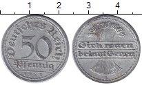 Изображение Монеты Германия Веймарская республика 50 пфеннигов 1921 Алюминий XF