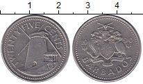 Изображение Монеты Северная Америка Барбадос 25 центов 1990 Медно-никель XF