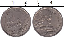 Изображение Монеты Европа Франция 100 франков 1955 Медно-никель VF