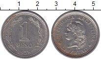 Изображение Монеты Аргентина 1 песо 1958 Медно-никель VF