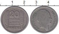 Изображение Монеты Алжир 20 франков 1949 Медно-никель VF Французский