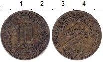 Изображение Монеты Африка Камерун 10 франков 1958 Медь