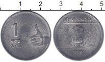 Изображение Монеты Индия 1 рупия 2010 Железо XF