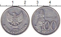 Изображение Монеты Индонезия 100 рупий 2001 Алюминий XF