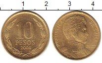 Изображение Монеты Чили 10 песо 2004 Латунь XF