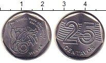 Изображение Монеты Южная Америка Бразилия 25 сентаво 1995 Железо XF