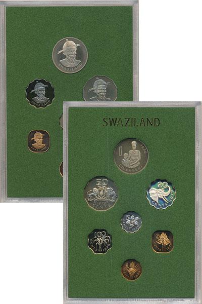 Изображение Подарочные монеты Африка Свазиленд первый выпуск 1979 года 1979  Proof