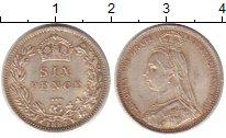 Изображение Монеты Европа Великобритания 6 пенсов 1887 Серебро XF