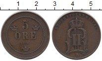 Изображение Монеты Европа Швеция 5 эре 1899 Бронза XF