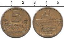 Изображение Монеты Финляндия 5 марок 1984 Латунь XF