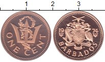 Изображение Монеты Барбадос 1 цент 1974 Медь Proof-