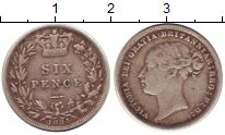 Изображение Монеты Европа Великобритания 6 пенсов 1884 Серебро VF