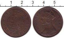 Изображение Монеты Гонконг 1 цент 1863 Медь VF Погнута