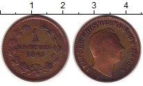Изображение Монеты Баден 1 крейцер 1845 Медь VF