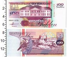 Изображение Банкноты Суринам 100 гульденов 1991  UNC