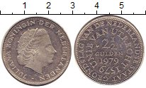 Изображение Монеты Нидерланды 2 1/2 гульдена 1979 Медно-никель XF