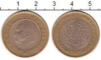 Изображение Монеты Азия Турция 1 лира 2012 Биметалл XF