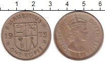 Изображение Монеты Африка Маврикий 1 рупия 1975 Медно-никель XF