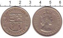 Изображение Монеты Маврикий 1 рупия 1975 Медно-никель XF Елизавета II