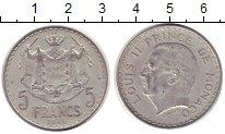 Изображение Монеты Европа Монако 5 франков 1945 Алюминий XF