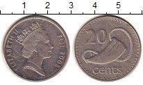 Изображение Монеты Фиджи 20 центов 2006 Медно-никель XF