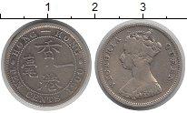 Изображение Монеты Гонконг 10 центов 1900 Серебро VF Виктория