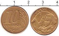Изображение Дешевые монеты Южная Америка Бразилия 10 сентаво 2012 Латунь VF