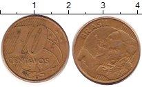 Изображение Дешевые монеты Южная Америка Бразилия 10 сентаво 2006 Медно-никель EF