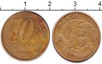 Изображение Дешевые монеты Южная Америка Бразилия 10 сентаво 2010 Латунь VF-
