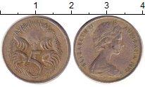 Изображение Дешевые монеты Австралия 5 центов 1977 Медно-никель VF+