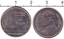 Изображение Дешевые монеты Таиланд 1 бат 2008 Сталь покрытая никелем XF-