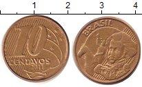 Изображение Дешевые монеты Южная Америка Бразилия 10 сентаво 2011 Бронза XF