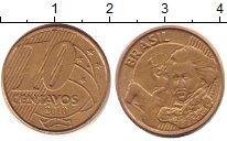 Изображение Дешевые монеты Южная Америка Бразилия 10 сентаво 2010 сталь с медным покрытием VF