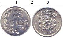 Изображение Дешевые монеты Люксембург 25 сантим 1970 Медно-никель XF
