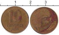 Изображение Дешевые монеты Аргентина 10 сентаво 2008 Латунь VF