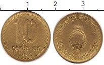 Изображение Дешевые монеты Аргентина 10 сентаво 1992 Латунь XF-