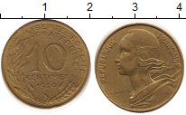 Изображение Дешевые монеты Франция 10 сантим 1979 Медно-никель VF