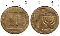 Изображение Дешевые монеты Израиль 10 агор 1986 Латунь XF-