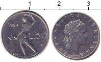 Изображение Дешевые монеты Европа Италия 50 лир 1994 Железо XF