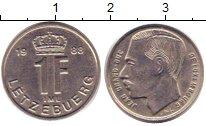Изображение Дешевые монеты Люксембург 1 франк 1988 Медно-никель VF