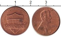 Изображение Дешевые монеты США 1 цент 2013 сталь с медным покрытием XF-