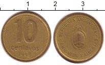 Изображение Дешевые монеты Южная Америка Аргентина 10 сентаво 1993 Медно-никель VF