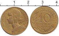 Изображение Дешевые монеты Франция 10 сантим 1984 Медно-никель XF