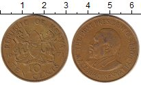 Изображение Дешевые монеты Африка Кения 10 центов 1971 Латунь XF-