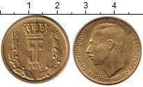 Изображение Дешевые монеты Европа Люксембург 5 франков 1986 Латунь XF-