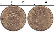 Изображение Монеты Ямайка 1/2 пенни 1964 Латунь XF+